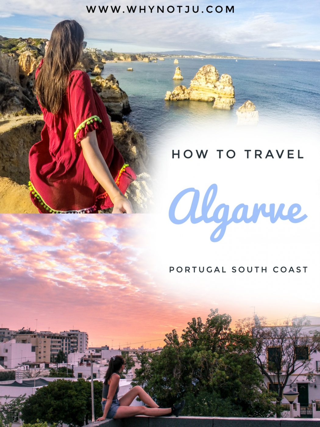 Ultimate guide & 10 day Algarve itinerary to backpack the south of portugal. How to get around on a budget to Faro, Albufeira & Lagos... #portugal #travel #guide #backpacking #budget #itinerary #albufeira #faro #lagos #algarve