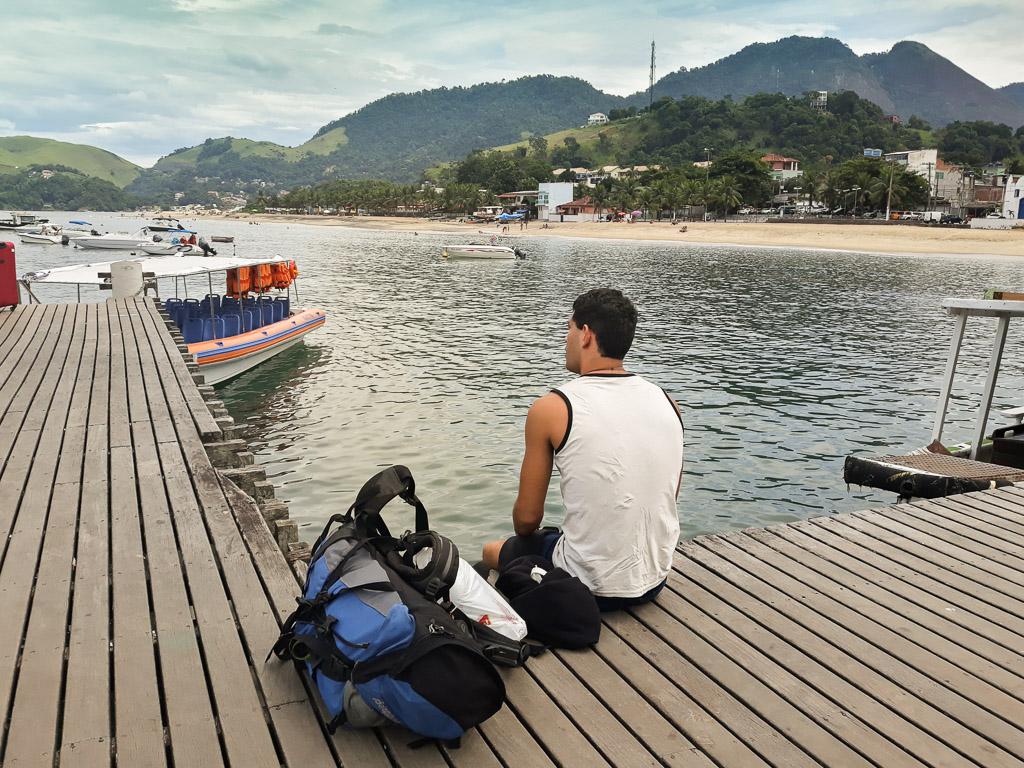 Brasil Ilha Grande on a Backpacker budget taxi boat conceição de jacarei