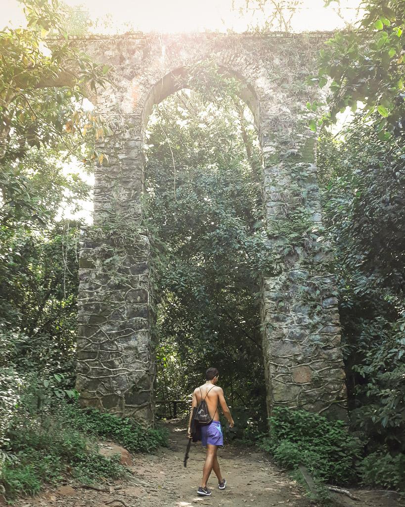 Waterfall hike Ilha Grande Budget backpacking