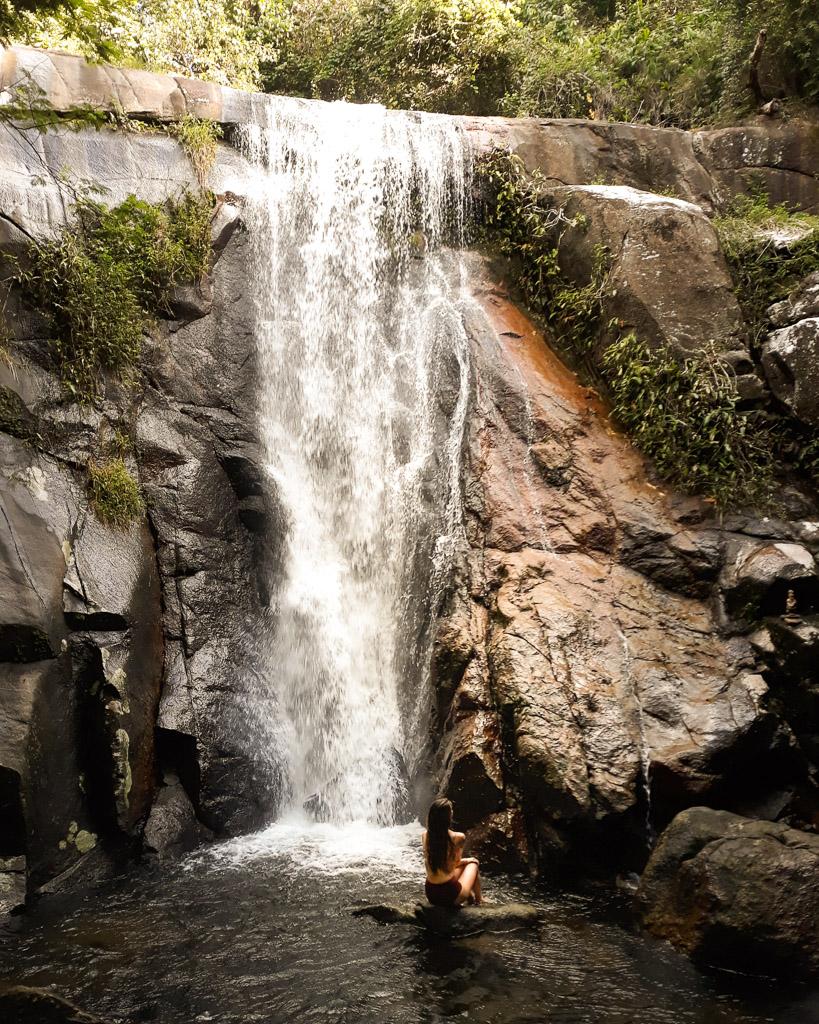 Visit Ilha Grande waterfall