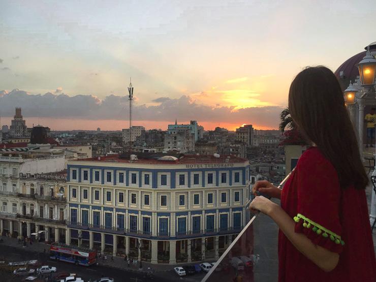 Rooftop hotel view in Havana Cuba