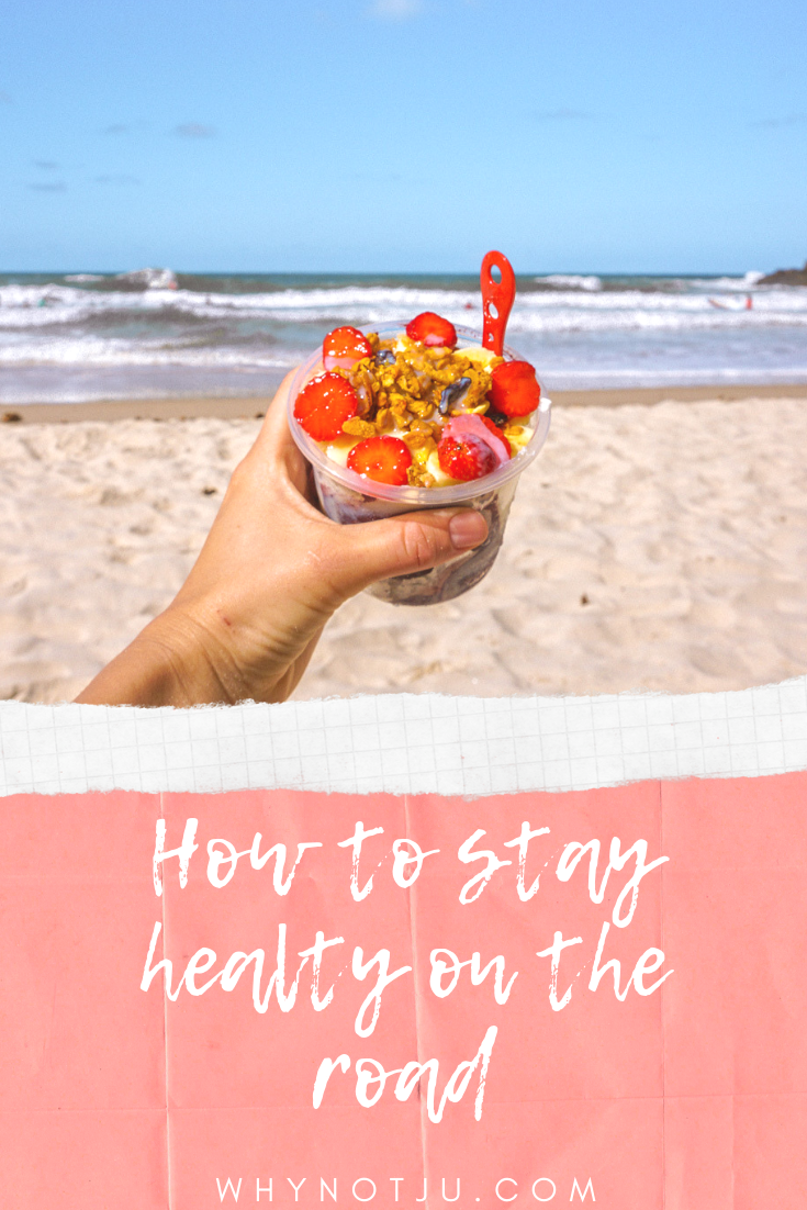 Here are some easy stepts to take to stay healthy while backpacking. They are not complicated, and will not limit your travel experience. #healthy #travel #backpacking #meals #fit #stayfit #workout