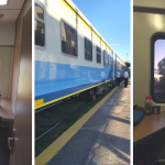 Taking train in Argentina