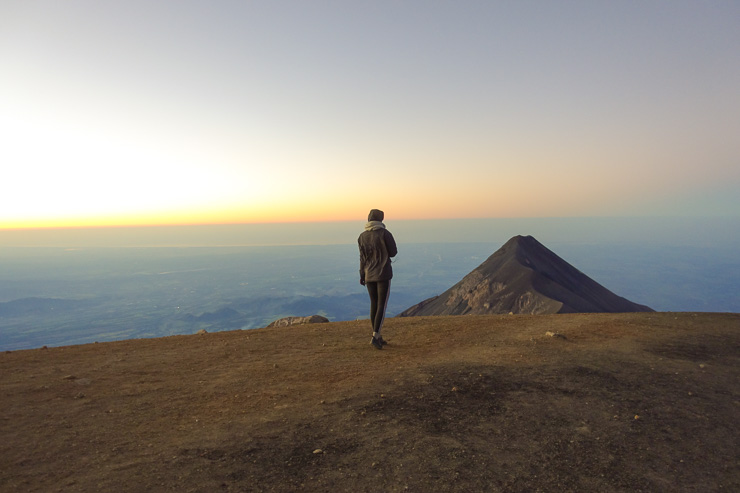 Hiking in altitude, Volcano Acatenago Guatemala sunrise