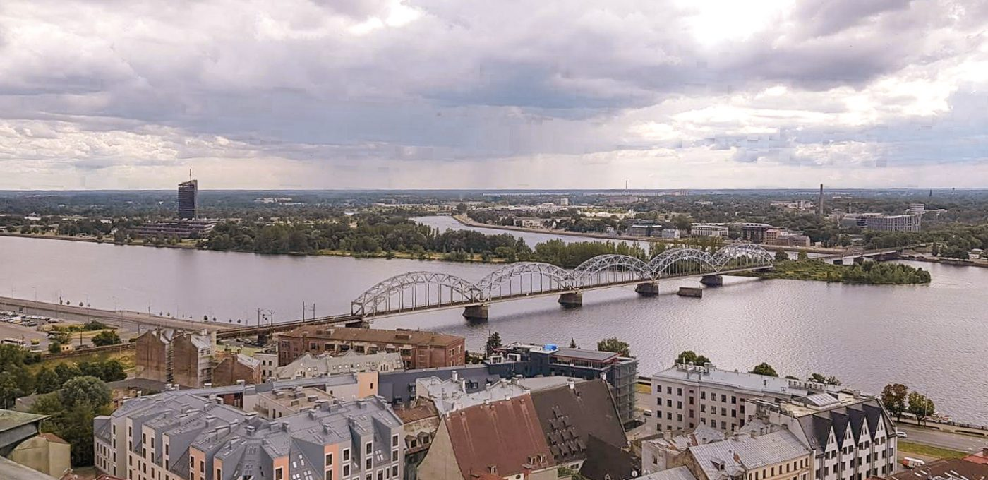 Riga things to do view over Riga from st peters church