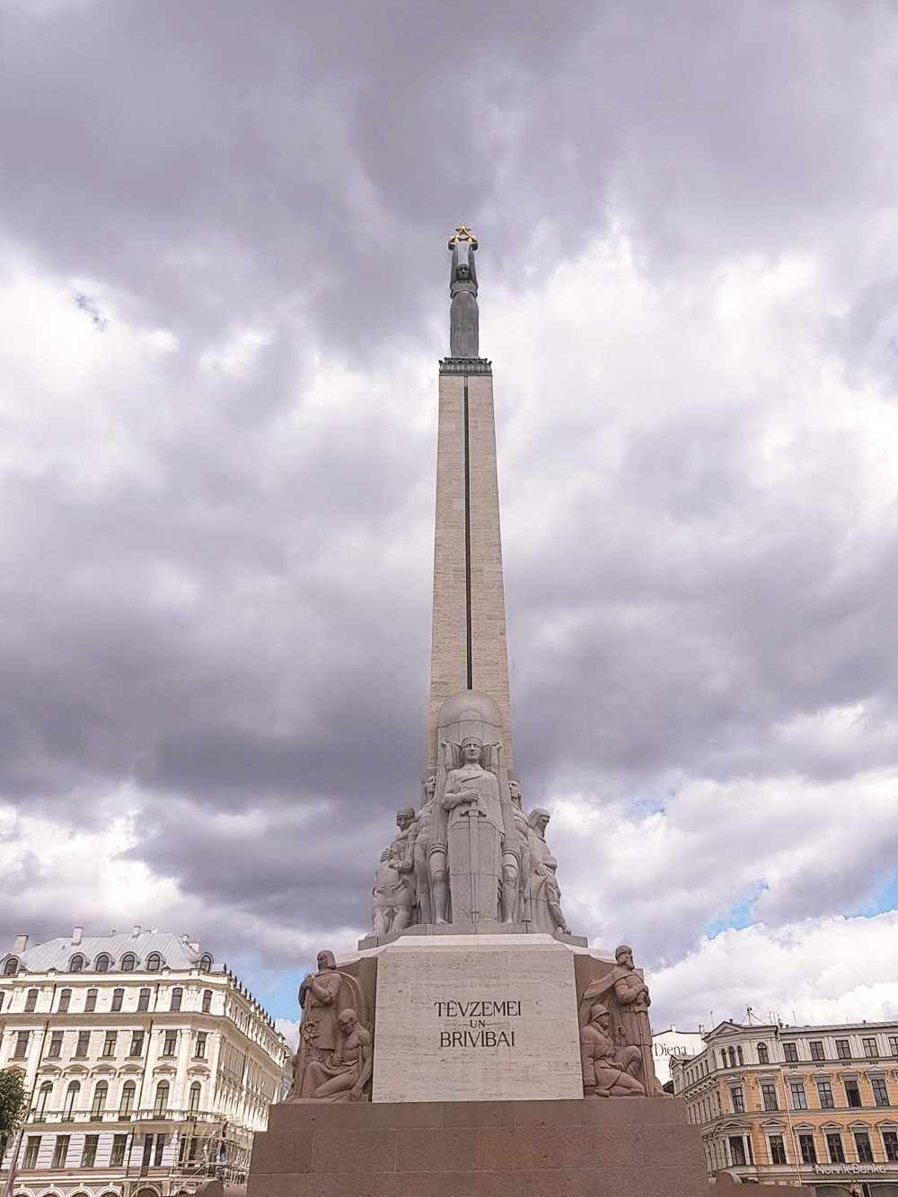 The Freedom Monument in RIga sight to see in Riga