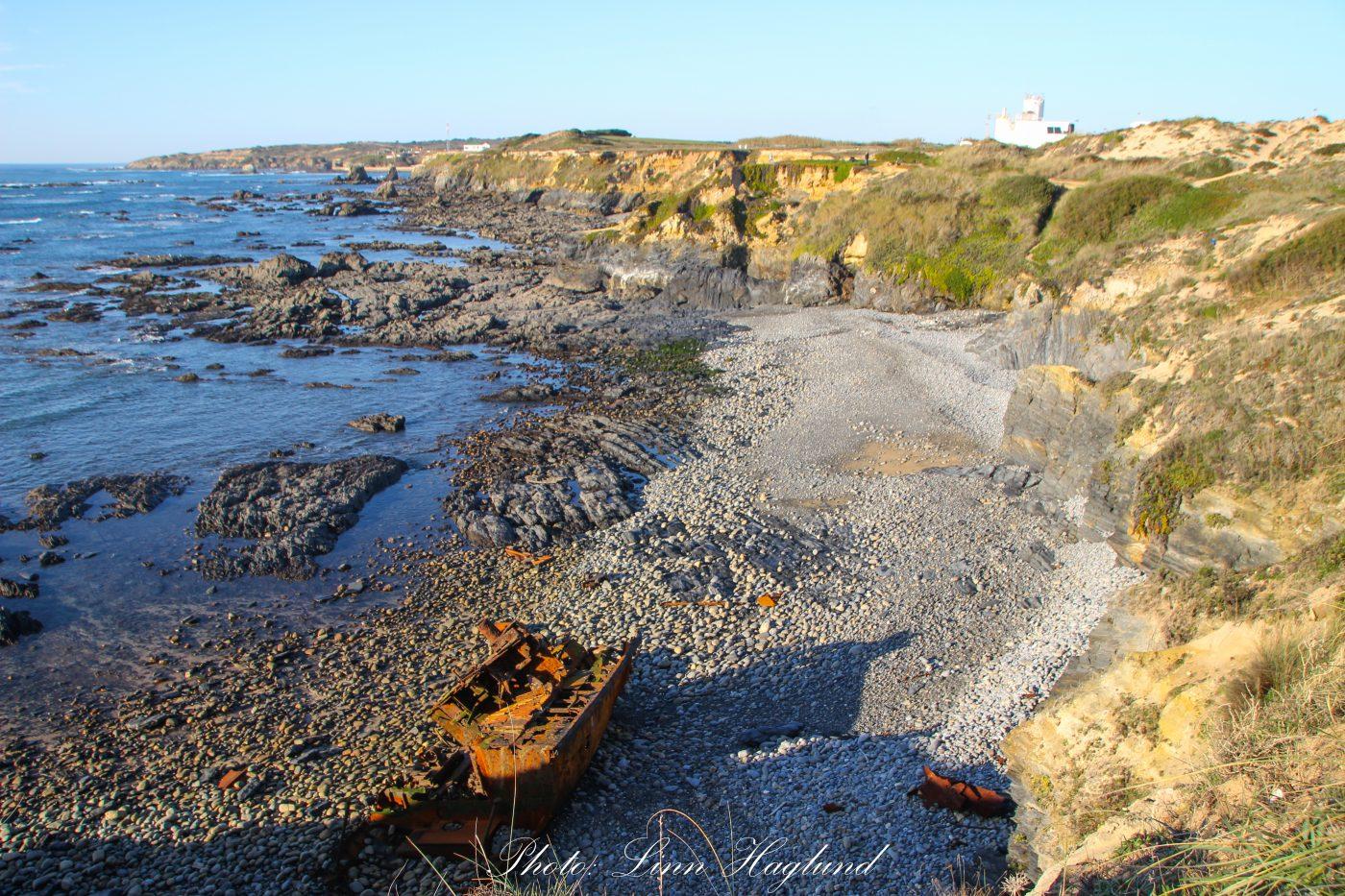 Praia Patacho shipwreck Portugal