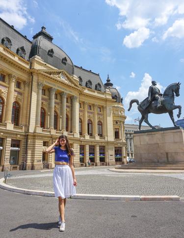Bucharest Romania Old Town