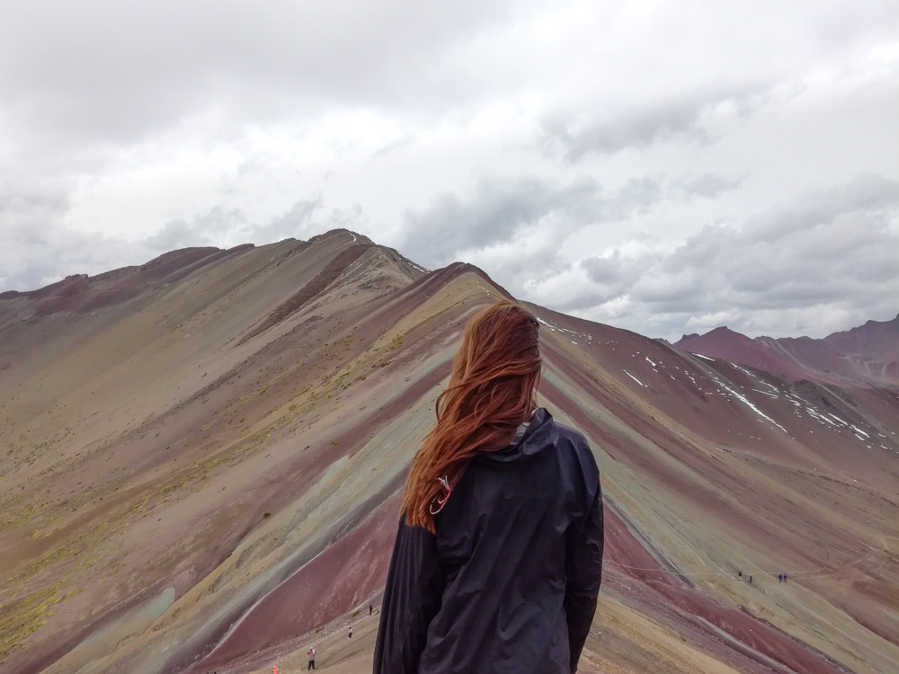 View from the Rainbow Mountain Viewpoint Cusco Peru