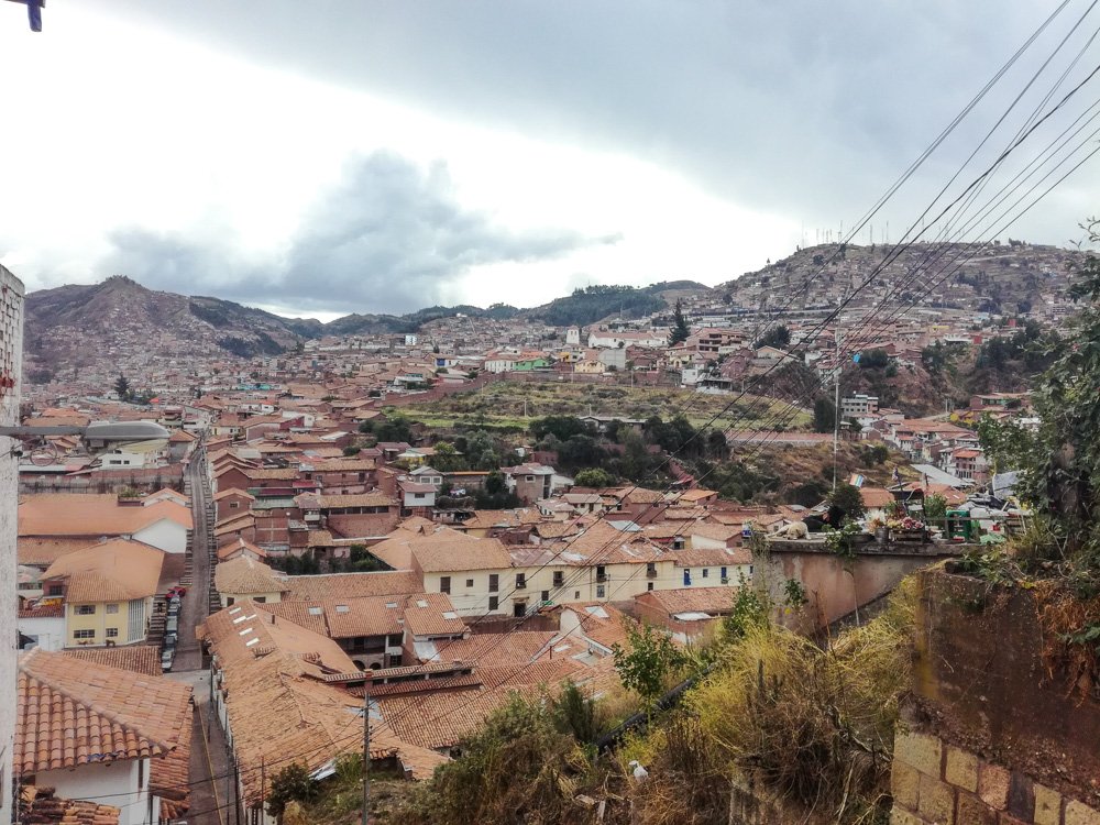 View over Cusco Peru