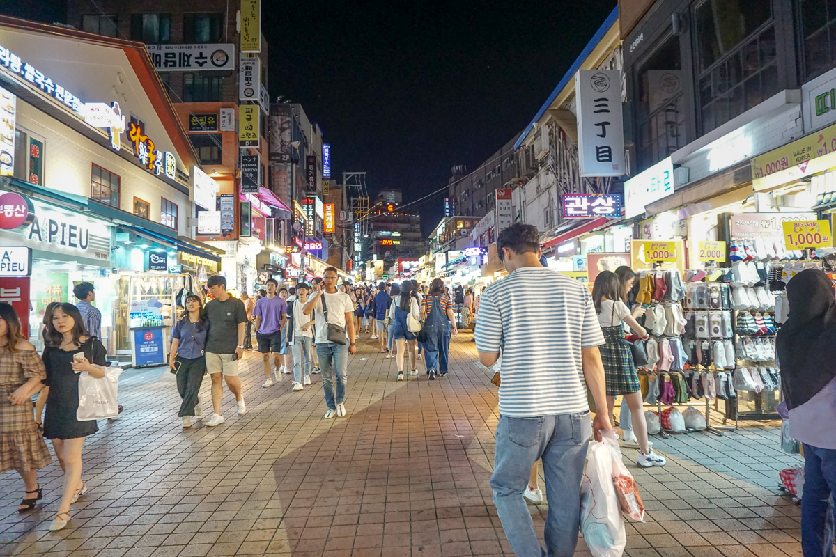 What to do in Hongdae at night Seoul South Korea