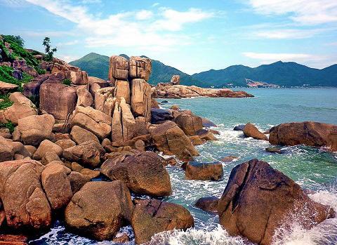 Hon Chong ocean cliffs in Nha Trang Vietnam