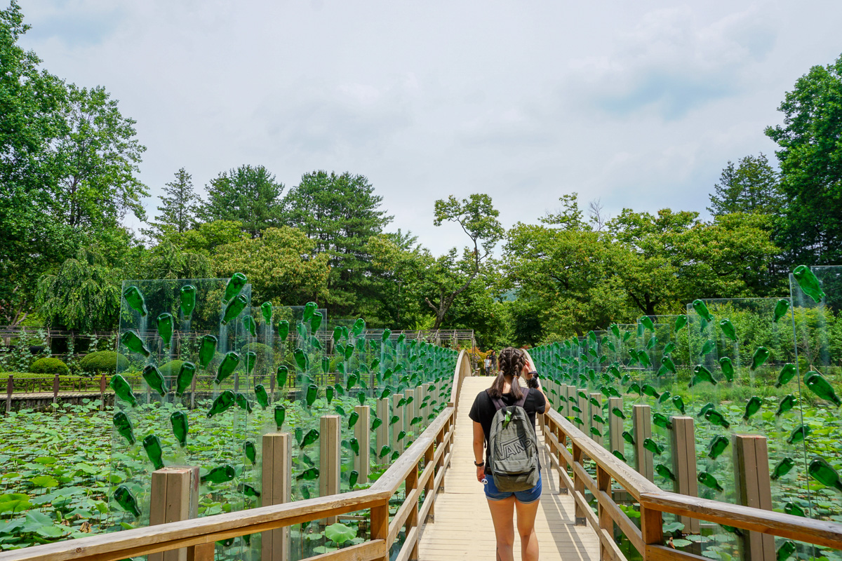 Nami Island Art instalation with recyceled bottles