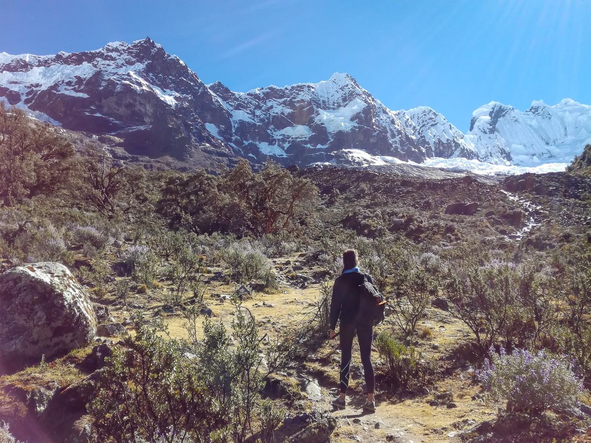 Towards Arhuaycocha Lake Santa Cruz Trek Huaraz Peru