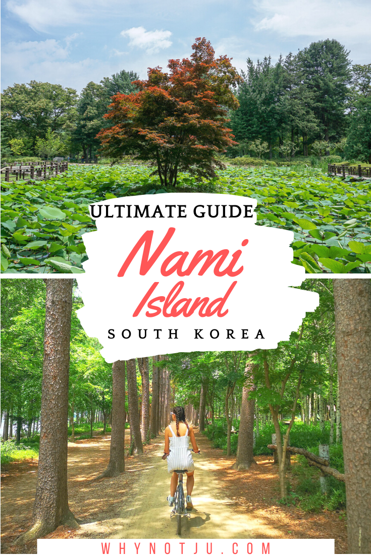 Nami Island is just a short trip from Seoul and a perfect alternative to a daytrip from Seoul. Get out of the big city and explor this little green island oasis! Get out of the big city and explore this little green island oasis! Start planning what to do in Nami Island and how to get there from Seoul, with this Nami Island guide.