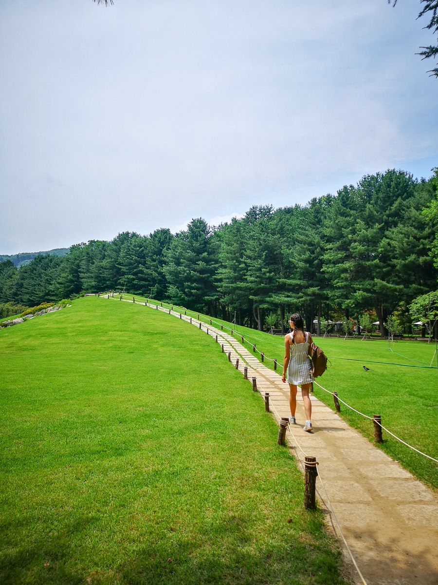 White brick path Nami Island